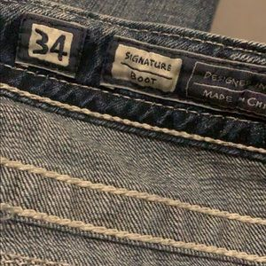 Miss me jeans size 34 only wore a few toe